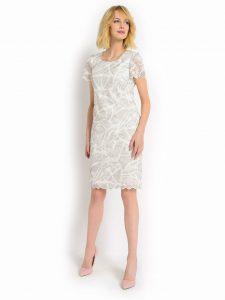 biala sukienka wieczorowa