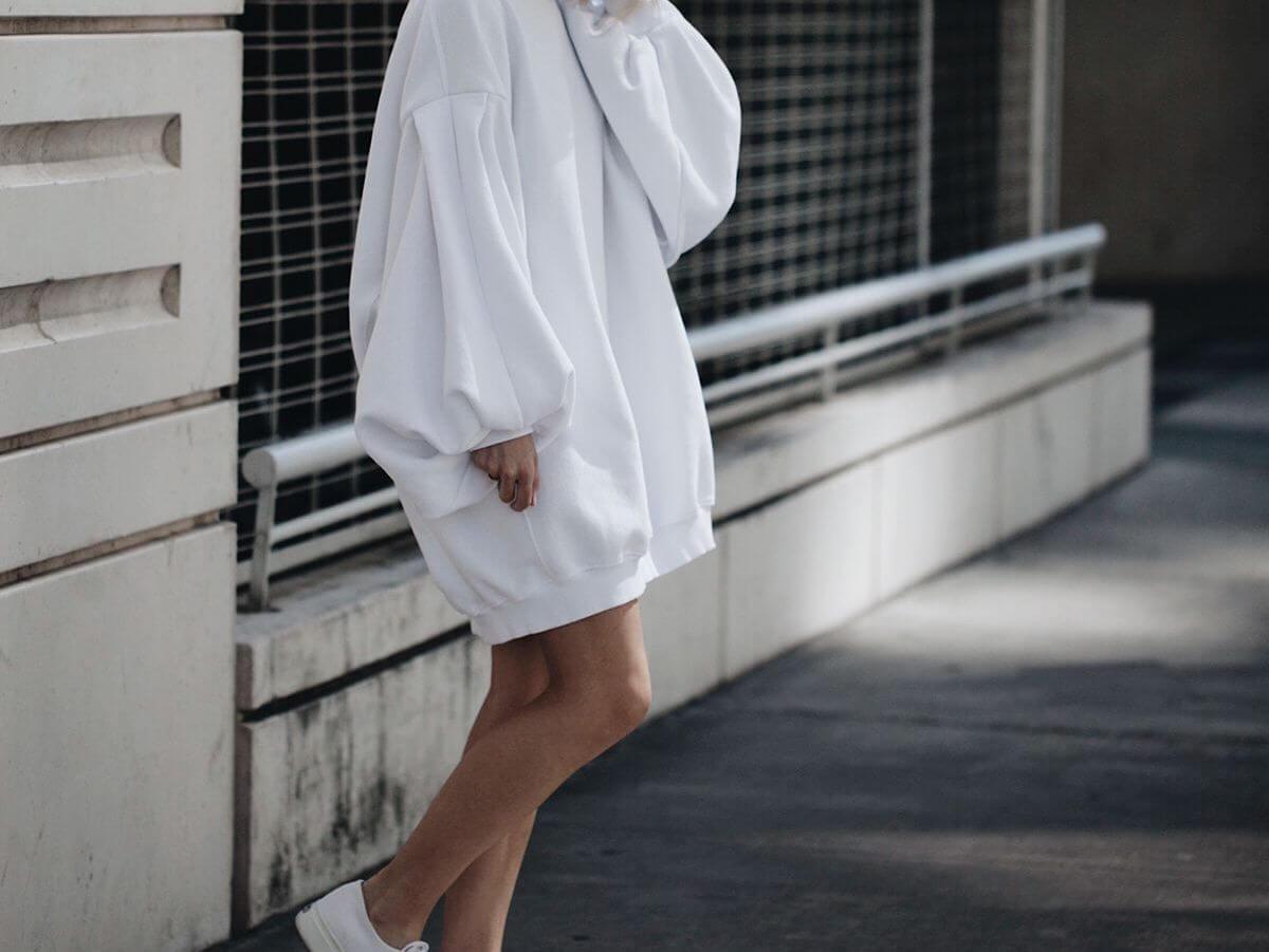 Biały Oversize
